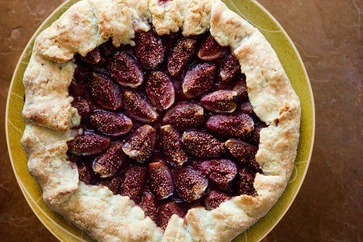 Fig Galette ~ Rustic fig galette with a simple butter crust, a layer of marmalade, and quartered fresh mission figs. ~ SimplyRecipes.com