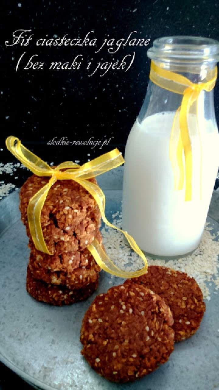 Fit ciasteczka jaglane (bez mąki i jajek)