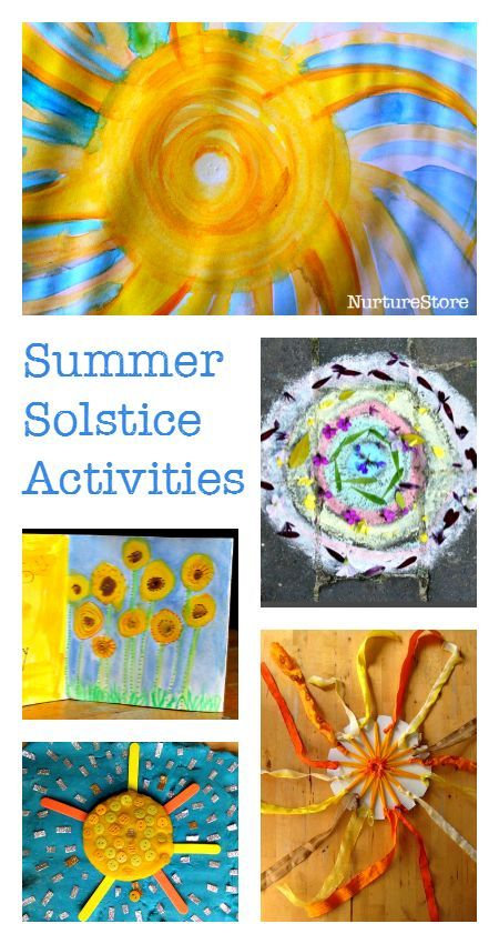 summer solstice activities for kids - solstice crafts - learn about the solstice