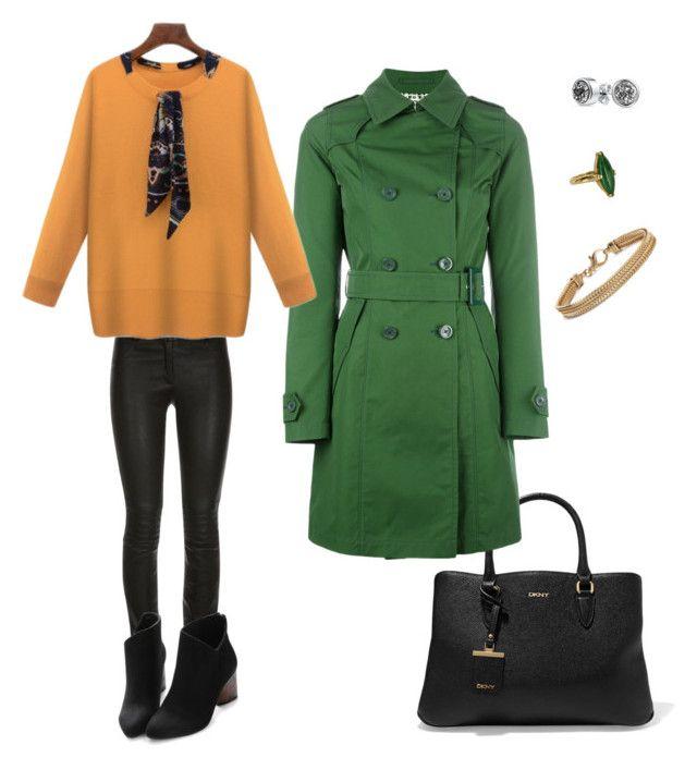 """Зеленое пальто"" by ankudinova-tv on Polyvore featuring мода, Vintage, Bling Jewelry, Blue Nile, DKNY, Herno, ElleSD и WithChic"
