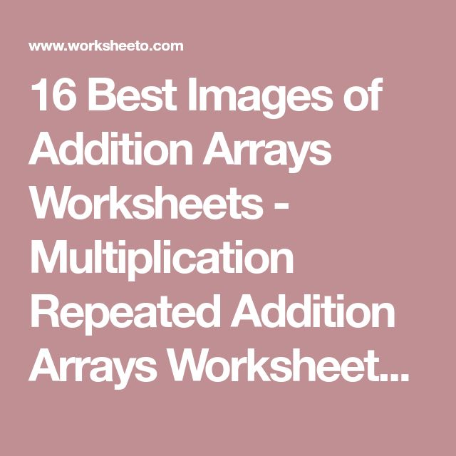 Best 25+ Repeated addition worksheets ideas on Pinterest - profit loss worksheet