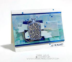 #cardbomb, #stampinup, Stampin' Up!, Global Design Project 133, #gdp133, #cards, #stamping, #stamps, #ink, #paper, #papercraft, #creative, #watercolor, #messageinabottle, Message In a Bottle, #stampinblends, alcohol markers
