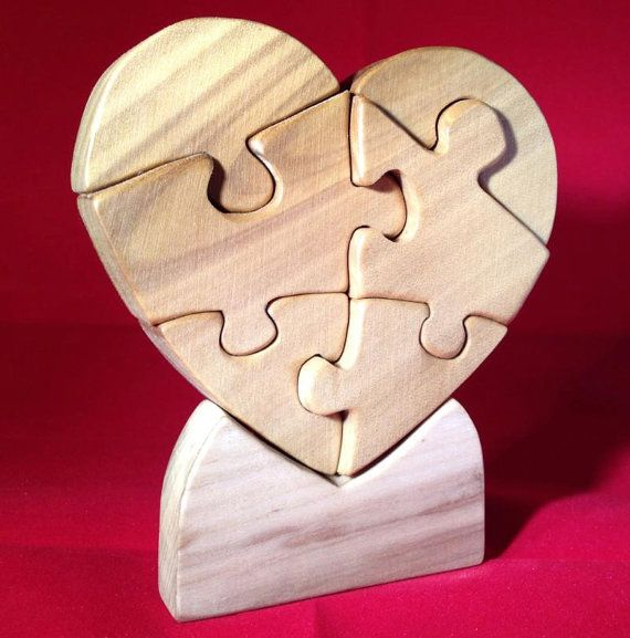 They're equally good for kids learning how to spell, for adults wanting to stimulate their mind, or for senior citizens looking to keep their minds sharp. Heart Puzzle made of Wood for Your Valentine. by ...