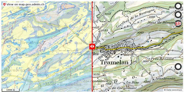 Tramelan BE Geologie Boden http://ift.tt/2tMSi2G #maps #schweiz