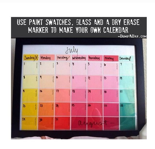Easy Diy Calendar Ideas : Best homemade calendar ideas on pinterest cool