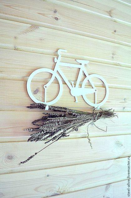 Прихожая ручной работы. Ярмарка Мастеров - ручная работа. Купить Велосипед-вешалка белого цвета. Handmade. Белый, белоснежный
