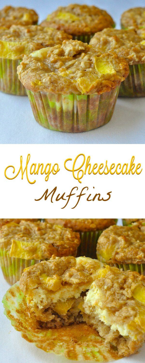 Mango Cheesecake Muffins with Orange & Five Spice - beautifully complimentary flavours meld in these decadently indulgent brunch muffins that are good enough to be served as dessert.
