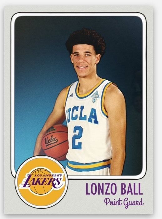 2016-17 LONZO BALL  UCLA CUSTOM ROOKIE CARD 2017 NBA Draft #1 Pick ? Lakers | Sports Mem, Cards & Fan Shop, Sports Trading Cards, Basketball Cards | eBay!
