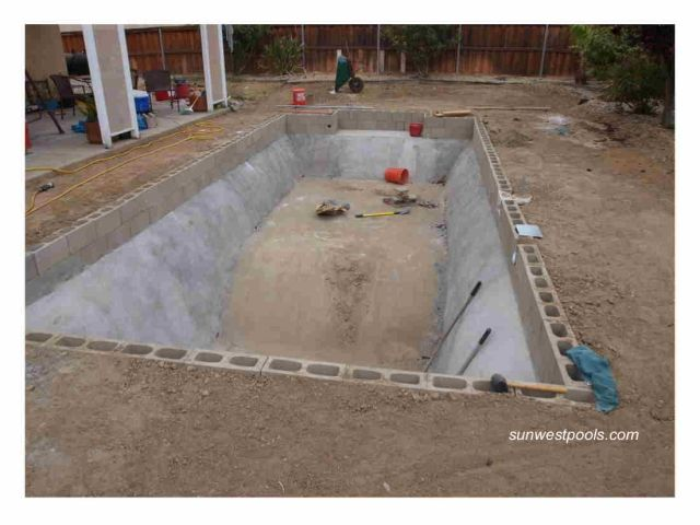 Diy inground pools kits salt water pool pinterest for Building an inground pool