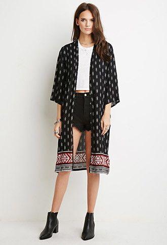 Southwestern Print Kimono | Forever 21 - 2000131570