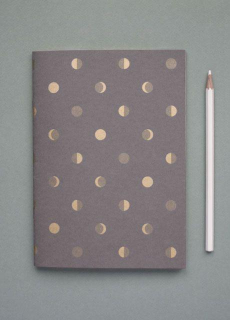 Bartsch Moon Crescents notebook in Elephant Grey