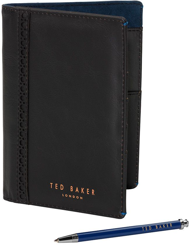 Mens Travel Wallet and Pen Set