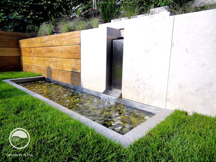 #landscape #architecture #garden #water #feature #cascade #lawn