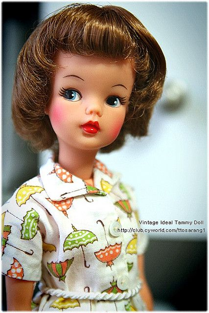 Tammy doll by Ideal. 1960s. Based on movie/tv character. Mine looked like this. I preferred this doll to Barbies. Tammy dolls had friendlier faces and were not stick-skinny!