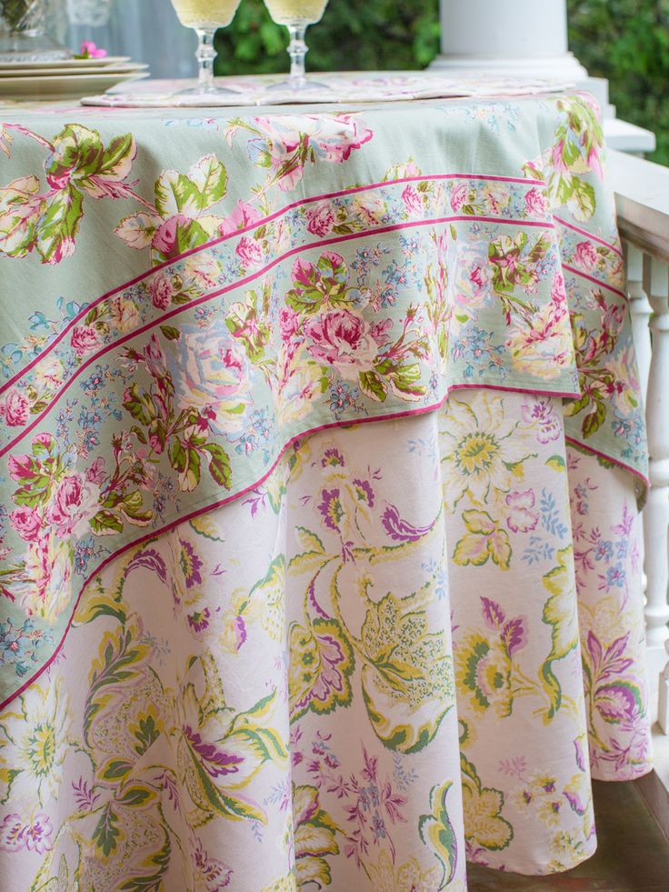 Evelyn Tablecloth In Soft Rose By April Cornell