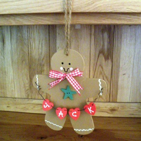 Personalised Gingerbread Man Decoration - £4.25