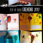 Zelfmaak kalender 2017 - Knutselen met kinderen - Calendar 2017 Pop-up BOOK