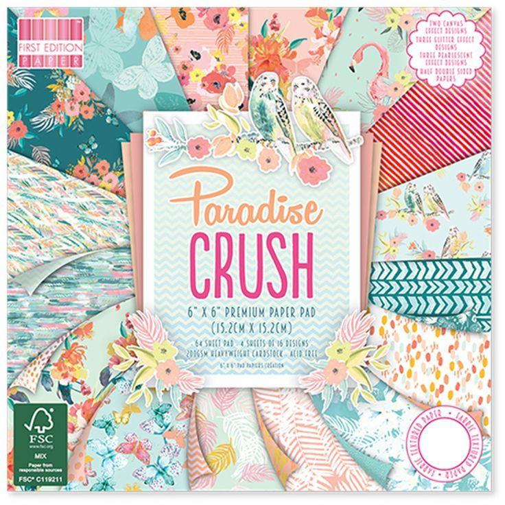 "PARADISE CRUSH – Erste Ausgabe – Dovecraft Craft Paper – 6 ""x 6"" – 200 g … – …"