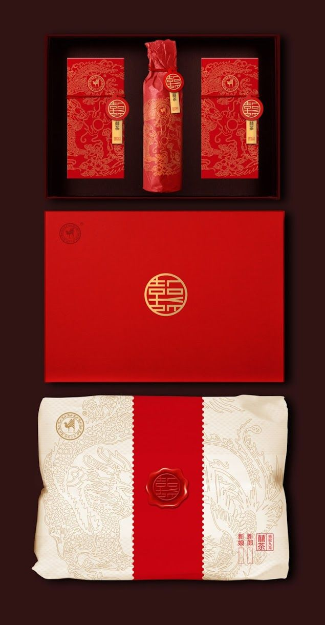 Chinese Wedding Tea Ceremony packaging on Packaging of the World. Beautiful PD