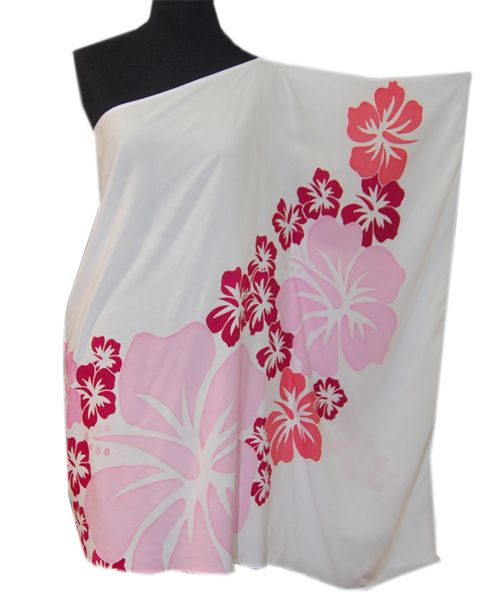 Hawaiian Colorful Hibiscus Plus Size One shoulder Short Dress
