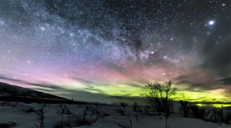 360°-Video der Milchstraße über Alaska - Du geile Natur, du! https://www.langweiledich.net/360-video-der-milchstrasse-ueber-alaska/