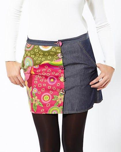 Falda corta casual free world. Disponible en tallas S a XL. www.monanva.com