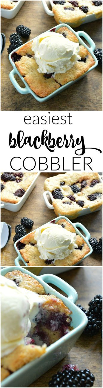 Fresh blackberries are baked into a buttery biscuit-like crust that comes together quickly. The Easiest Blackberry Cobbler is at the top of my summer dessert list.