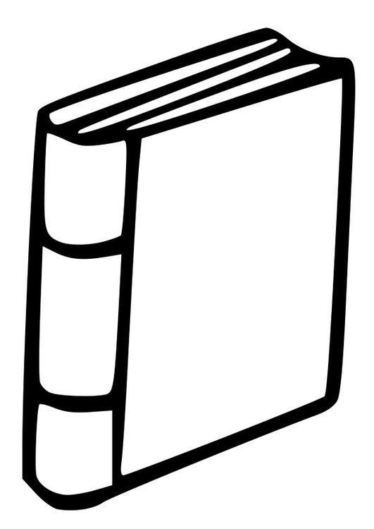 Clipart Libro Cerrado Animado Para Colorear   .imagenesmy.com