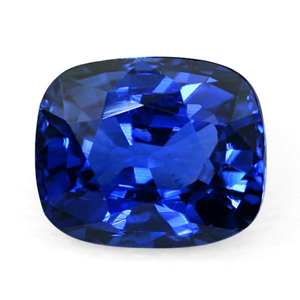Sapphires from Kashmir:  An example of the typical deep, velvety blue of a Kashmir sapphire.  www.thenaturalsapphirecompany.com