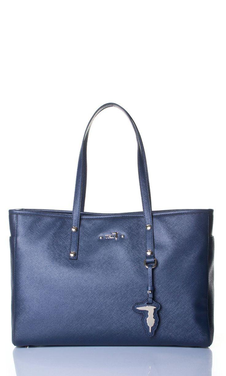 Tru Trussardi | Borsa Shopping Tru Trussardi Donna Col. Blu - Shop Online su Dursoboutique.com 76B001K303