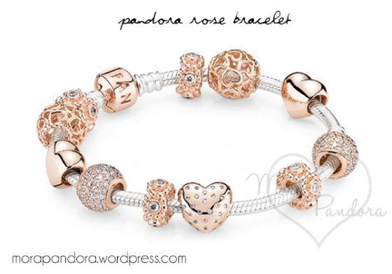 pandora rose gold bracelet. Bracelet is silver with a rose gold clasp, charms not included.