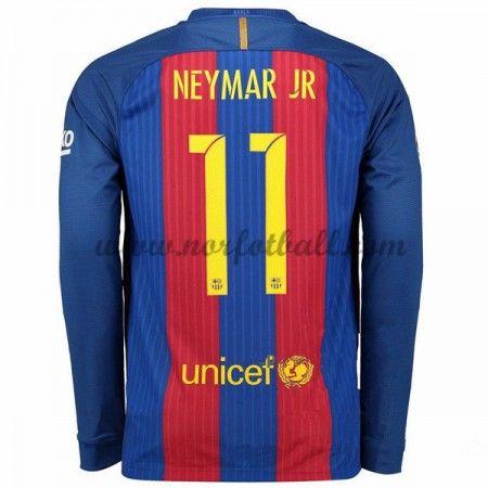 Billige Fotballdrakter Barcelona 2016-17 Neymar Jr 11 Hjemme Draktsett Langermet