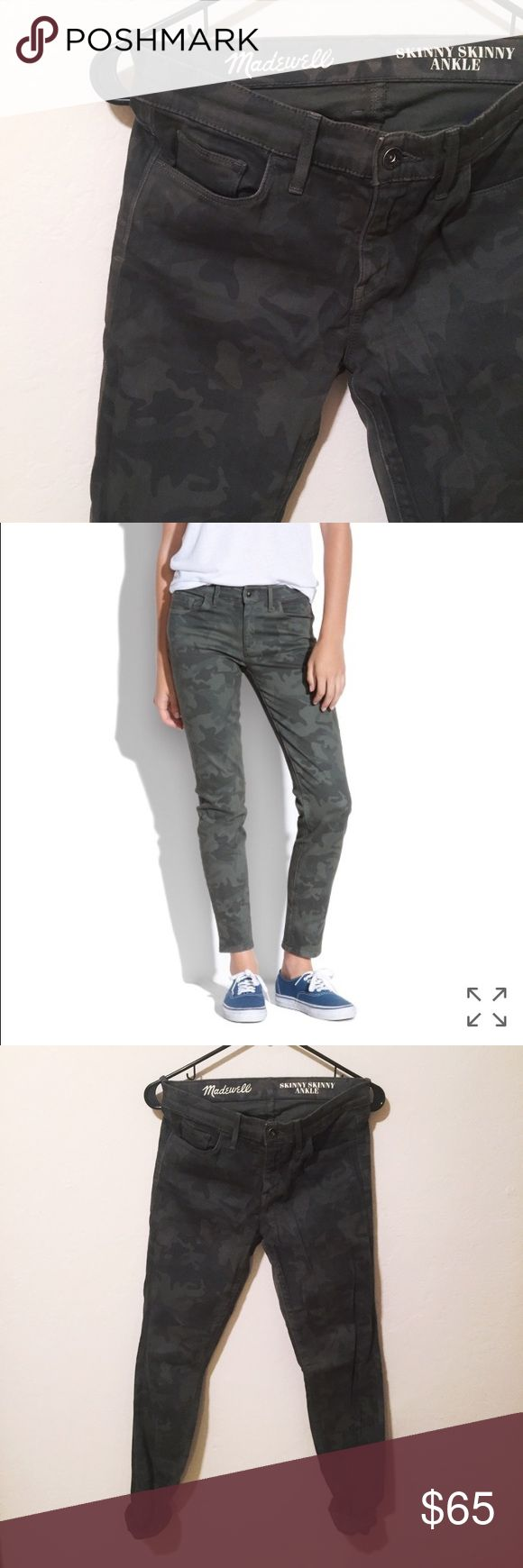 Madewell skinny skinny ankle camo jeans perfect condition. a great subtle dark camo jean! Madewell Jeans Ankle & Cropped