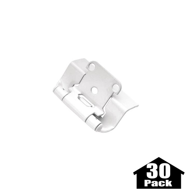 Hickory Hardware P5710F-30PACK Package of 2 Full Wrap Self Closing Hinges - 30 P Powder Coat Cabinet Hinges Overlay Hinges Wrap Hinges