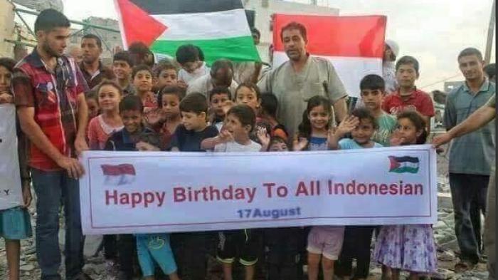 HUT ke 71 RI - Heboh di Media Sosial, Ucapan dari Warga Palestina Bikin Netizen Menangis