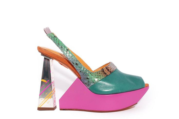 Designer Joanne Stoker shoe on display at the Westfield exhibition: My Favourite Shoe.