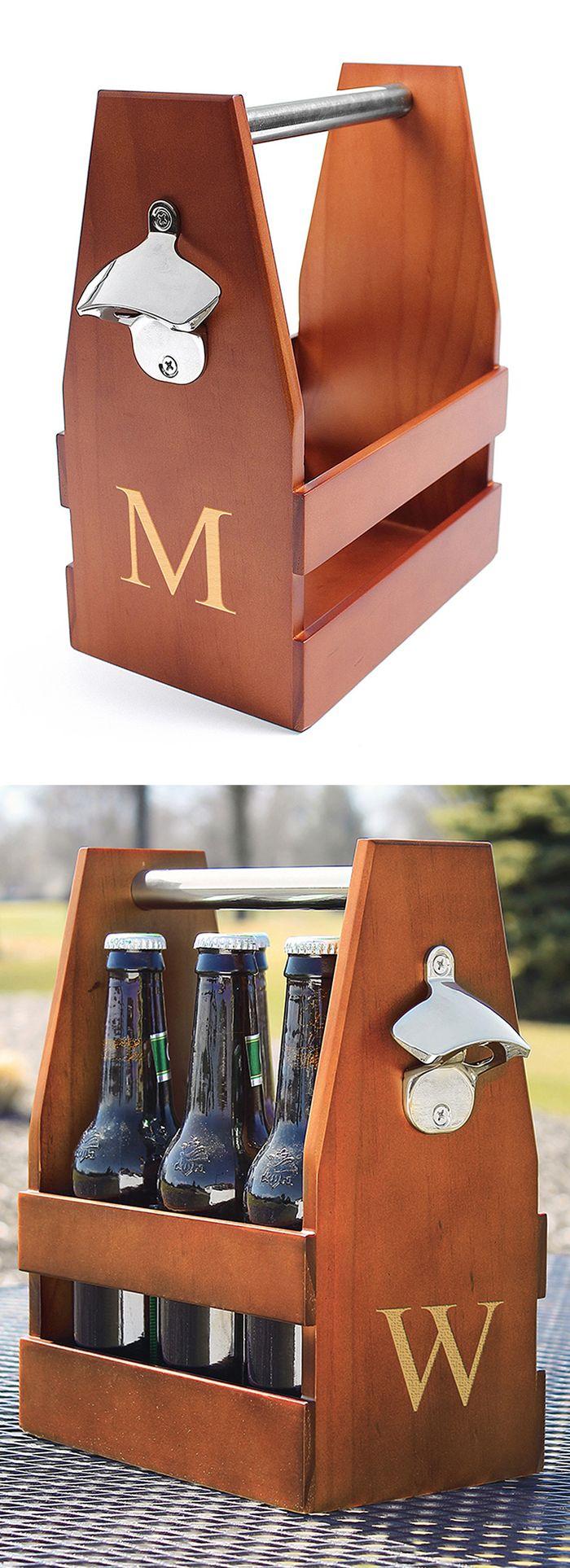 Craft beer carrier // with built-in bottle opener! #product_design