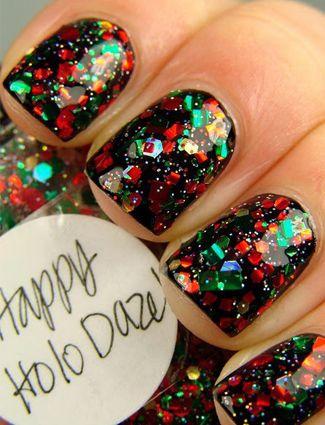 Holiday Manicures #christmasn #nailart #nails