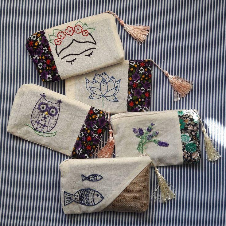 Instagram photo 2017-11-02 09:42:51 ✂ Mari Katinam getir dikelim, getir biçelim. #cüzdan #embroidery #divitin