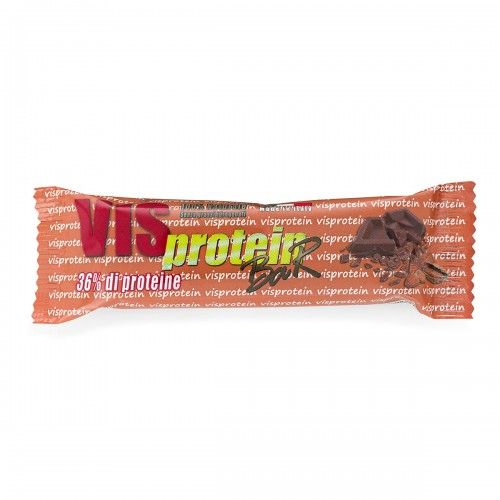 VIS PROTEIN barretta proteica al cioccolato al latte e mandorle 50gr 36% di proteine