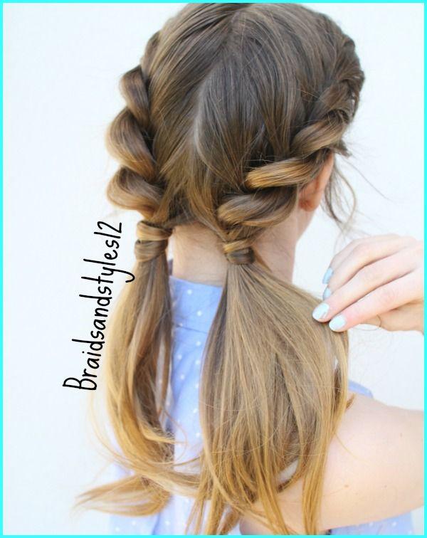 4 Easy Summer Hairstyles by Braidsandstyles12. Braided Hairstyles , Pigtail Hairstyles #pigtails #braids #braidedpigtails #ponytail