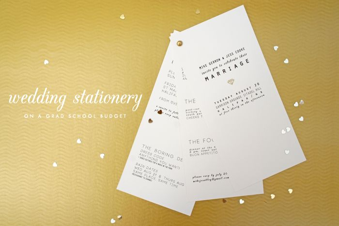 How to make your wedding stationery work (and rock) for less than $200 | Grey Likes Weddings