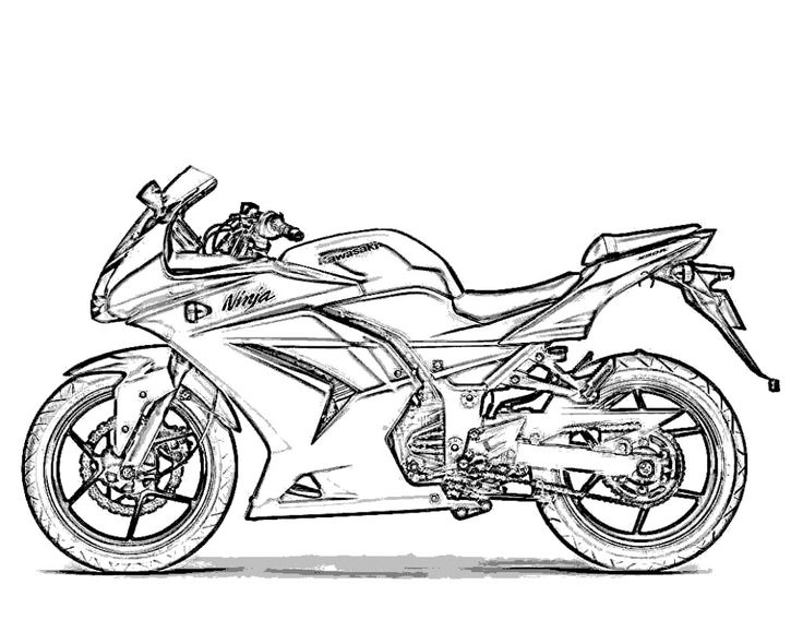 Motorcycle Coloring Page COLORING PAGES Pinterest