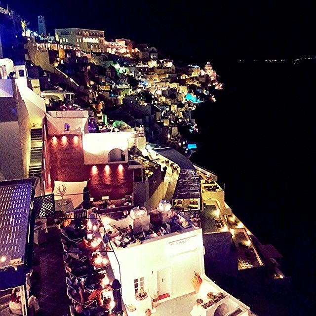 #Santorini #Night  Photo credits:@cristianmarai