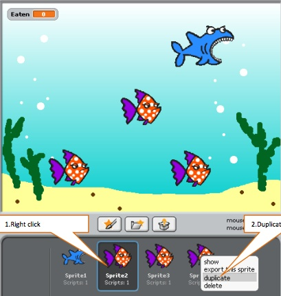 Create Scratch games: create games around shark attacks, helicopters, tanks, space invaders, asteroids, flying parrot...you name it. Superb resources from Teach ICT.
