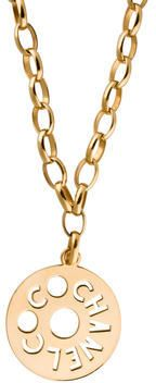 Gold-tone Chanel vintage Coco Chanel pendant necklace with fishhook closure.