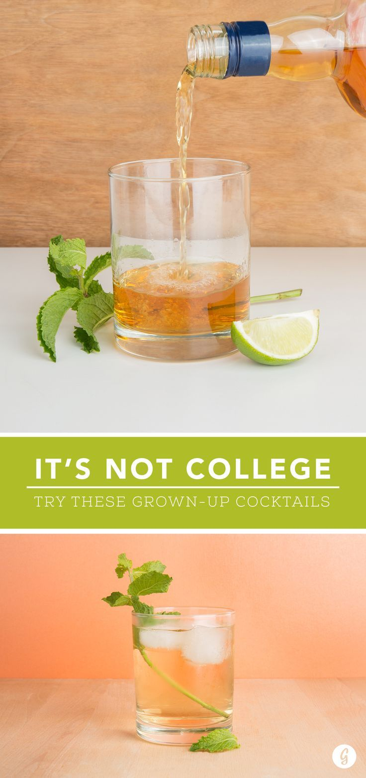 Swap Your Go-To College Drinks for These More Grown-Up Cocktails — Still trying to relive the old college years? You totally can with these healthier cocktails. #healthy #summer #cocktails #drinks #greatist