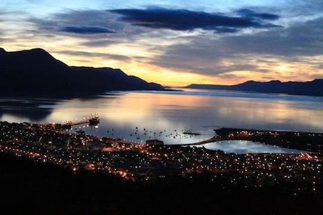 Sunrise in Ushuaia, Argentina