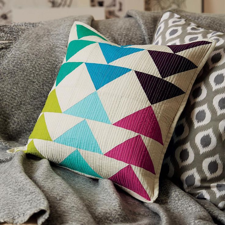 And the matching pillow  #lovepatchworkandquilting                                                                                                                                                                                 More