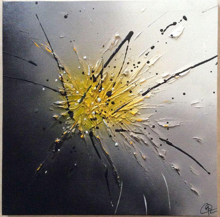 Tableau abstrait par l'Atelier de Corinne : Décorations murales par atelier-de-corinne